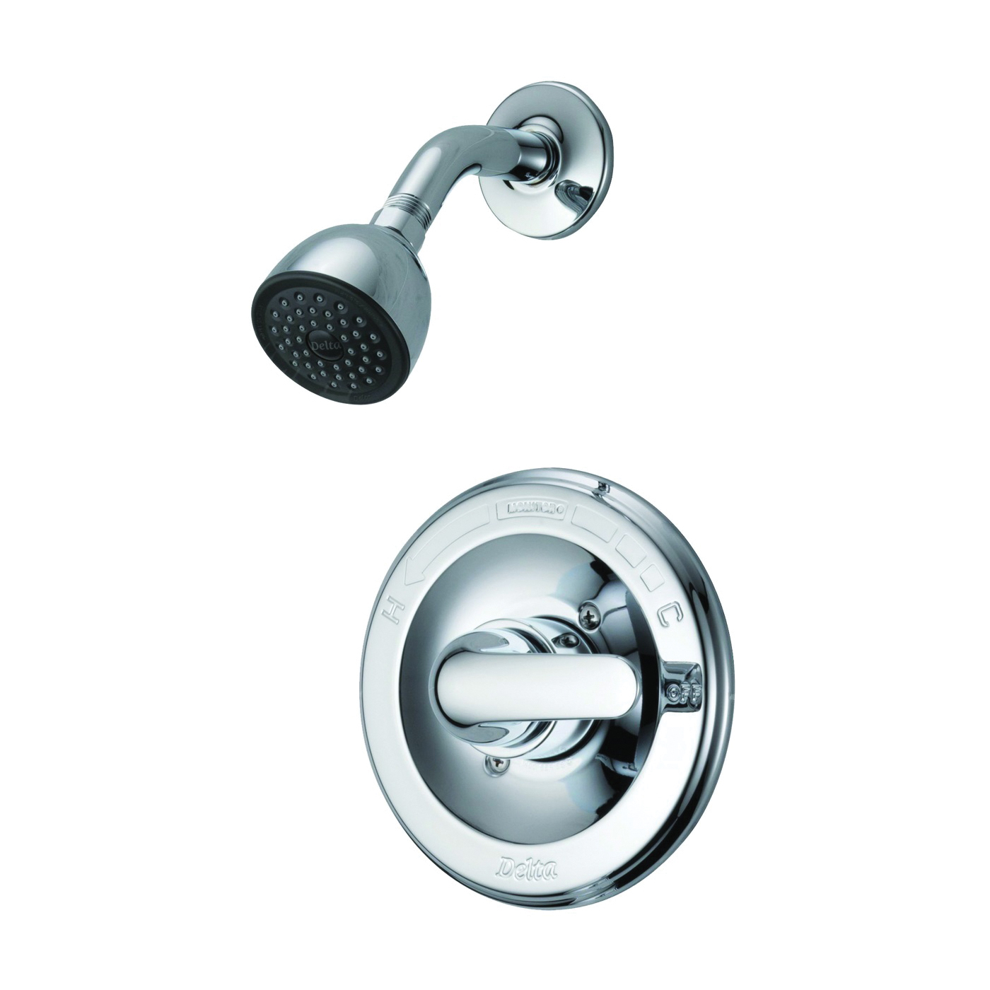 Picture of Peerless 132900 Shower Faucet, 2 gpm, 2-5/8 in Showerhead, Brass, Chrome, Lever Handle, 1-Handle