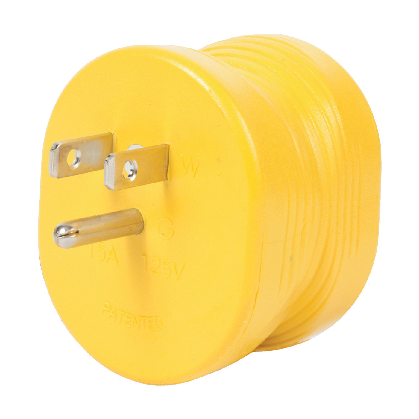 Picture of CAMCO 55223 Power Grip Adapter, 30 A Female, 15 A Male, 125 V, Male, Female