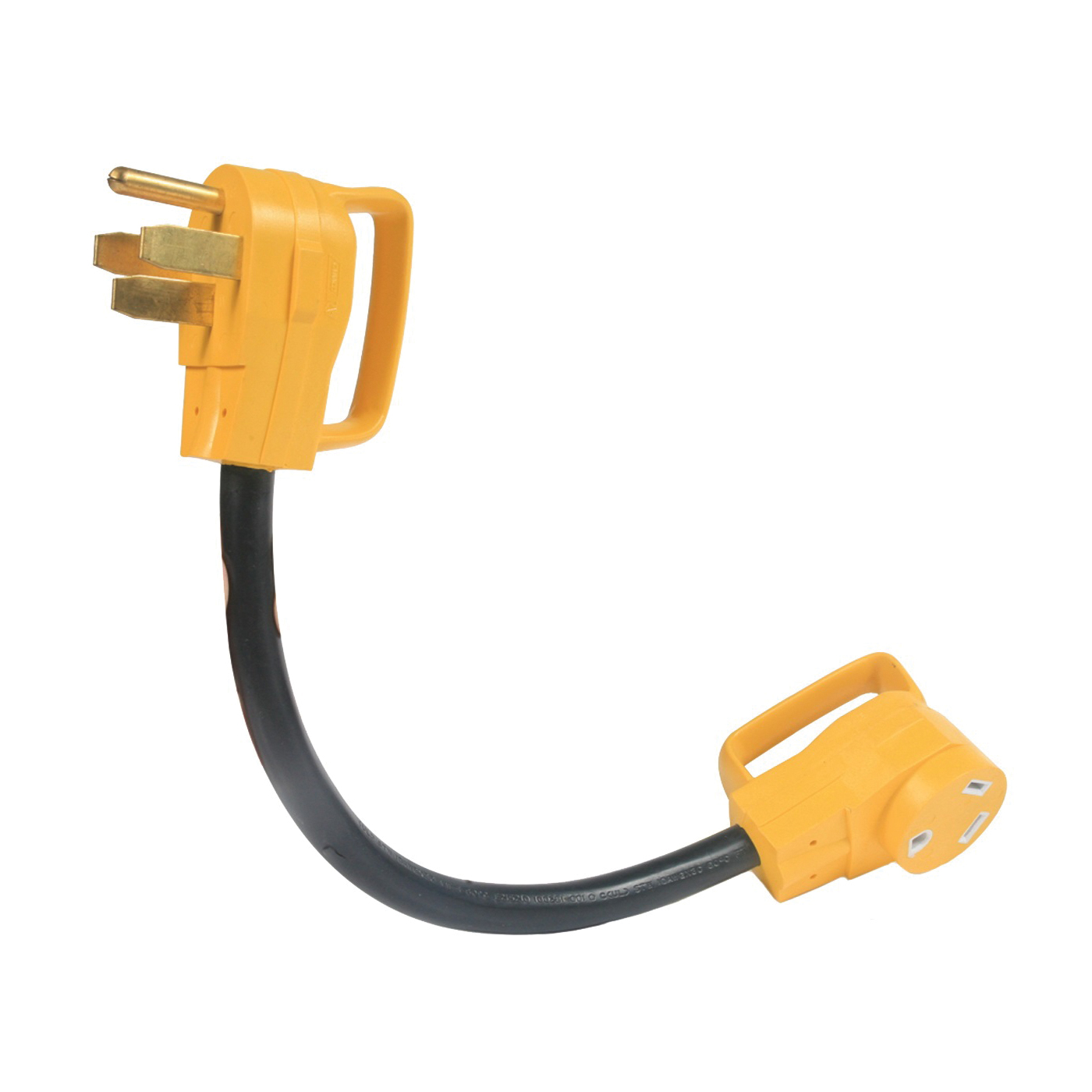 Picture of CAMCO 55173 Power Grip Adapter, 30 A Female, 50 A Male, 125 V, Male, Female