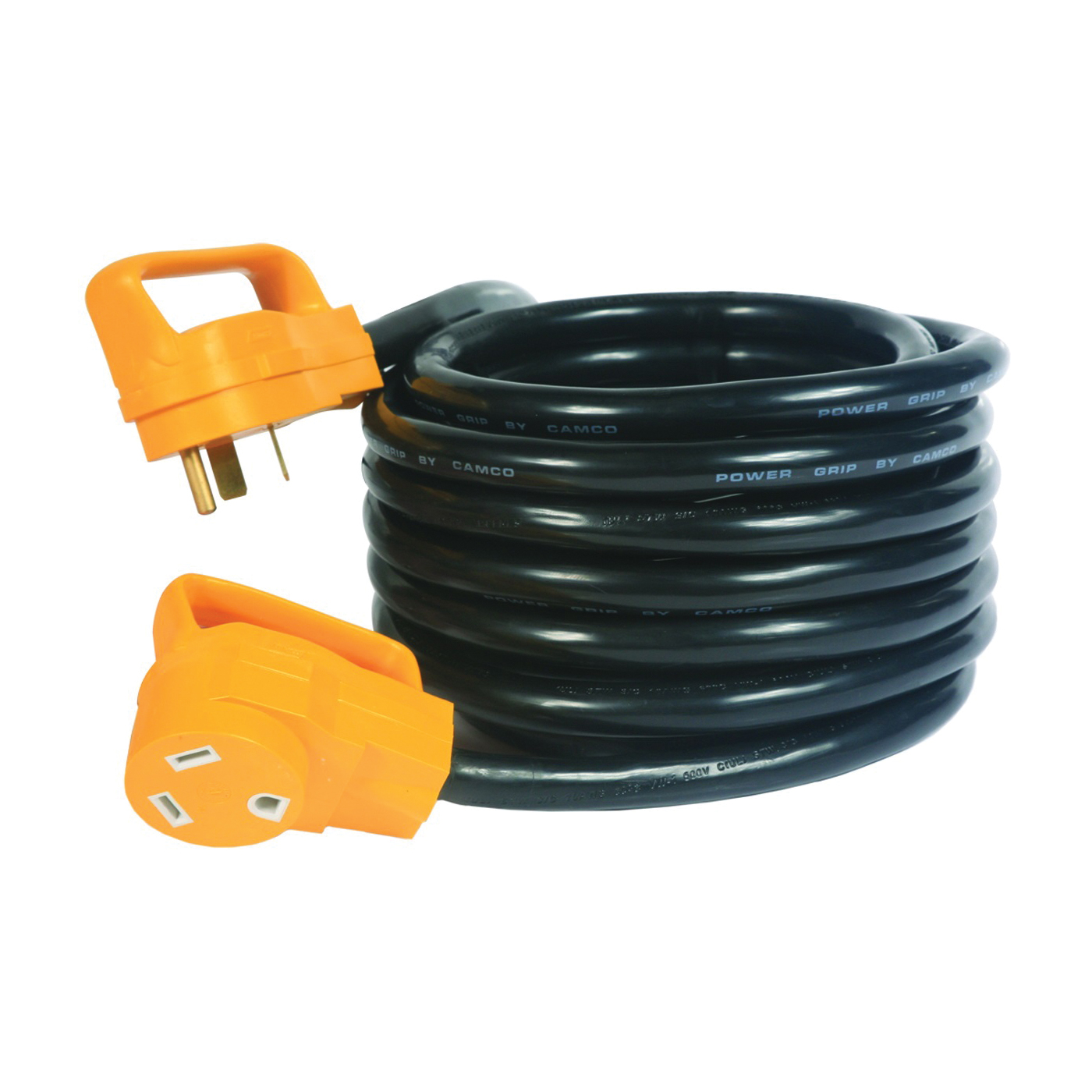 Picture of CAMCO 55191 Extension Cord, 10 ga Cable, 25 ft L, Male, Female, Black Jacket
