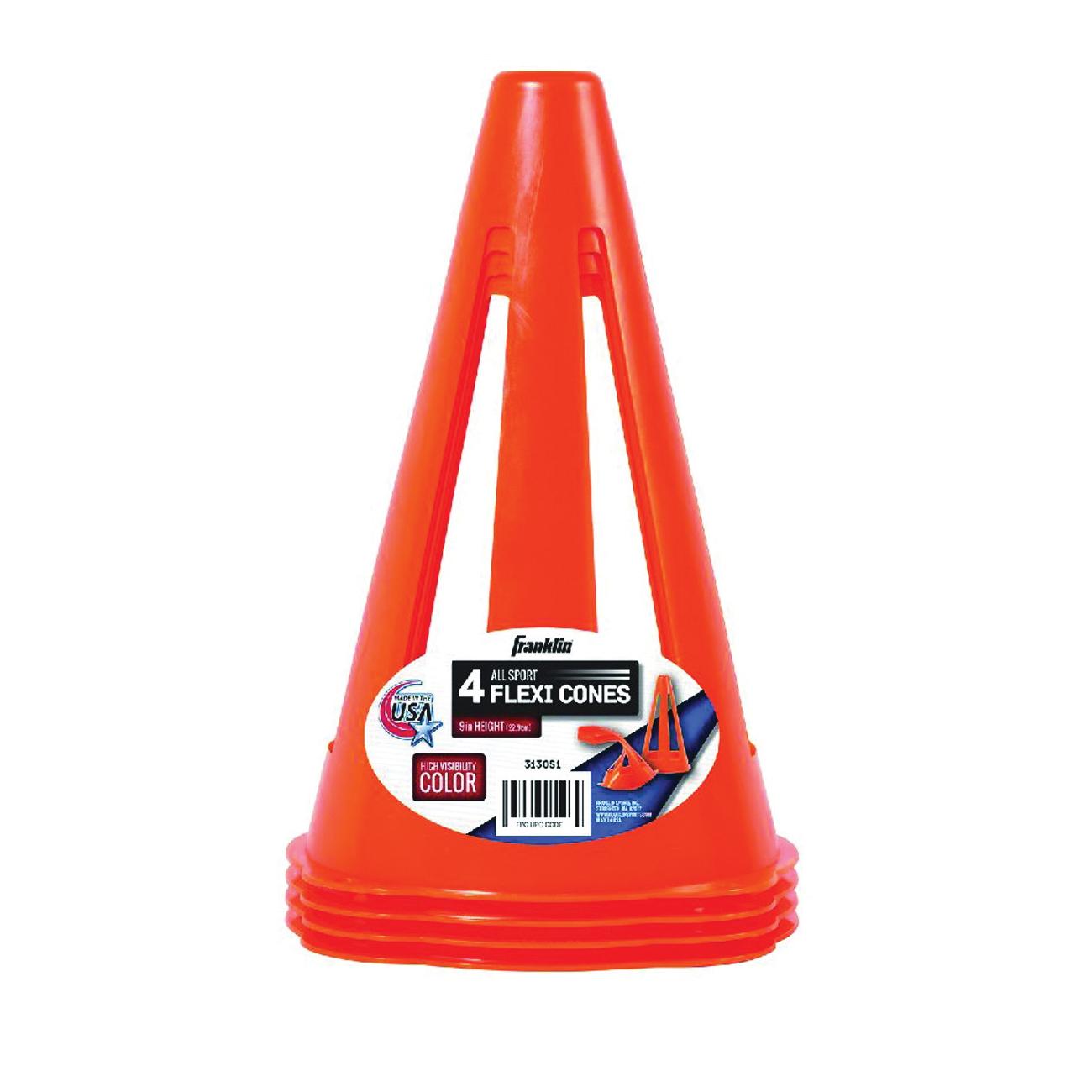 Picture of Franklin Sports 3130S1 Field Marker Cone, PVC, Fluorescent Orange