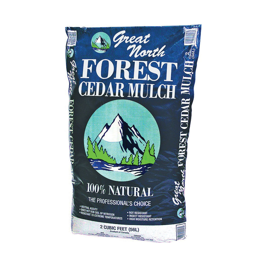 Picture of Great North 55553 Forest Cedar Mulch, Natural Dark Brown, Bag