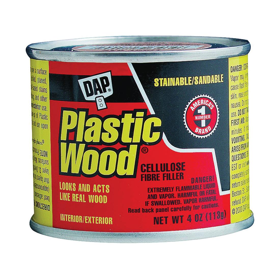Picture of DAP Plastic Wood 21400 Wood Filler, Paste, Strong Solvent, Light Oak, 4 oz Package