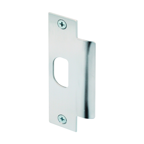 Picture of Defender Security U 9483 Door Strike Plate, 4-7/8 in L, 1-1/4 in W, Stainless Steel, Brushed