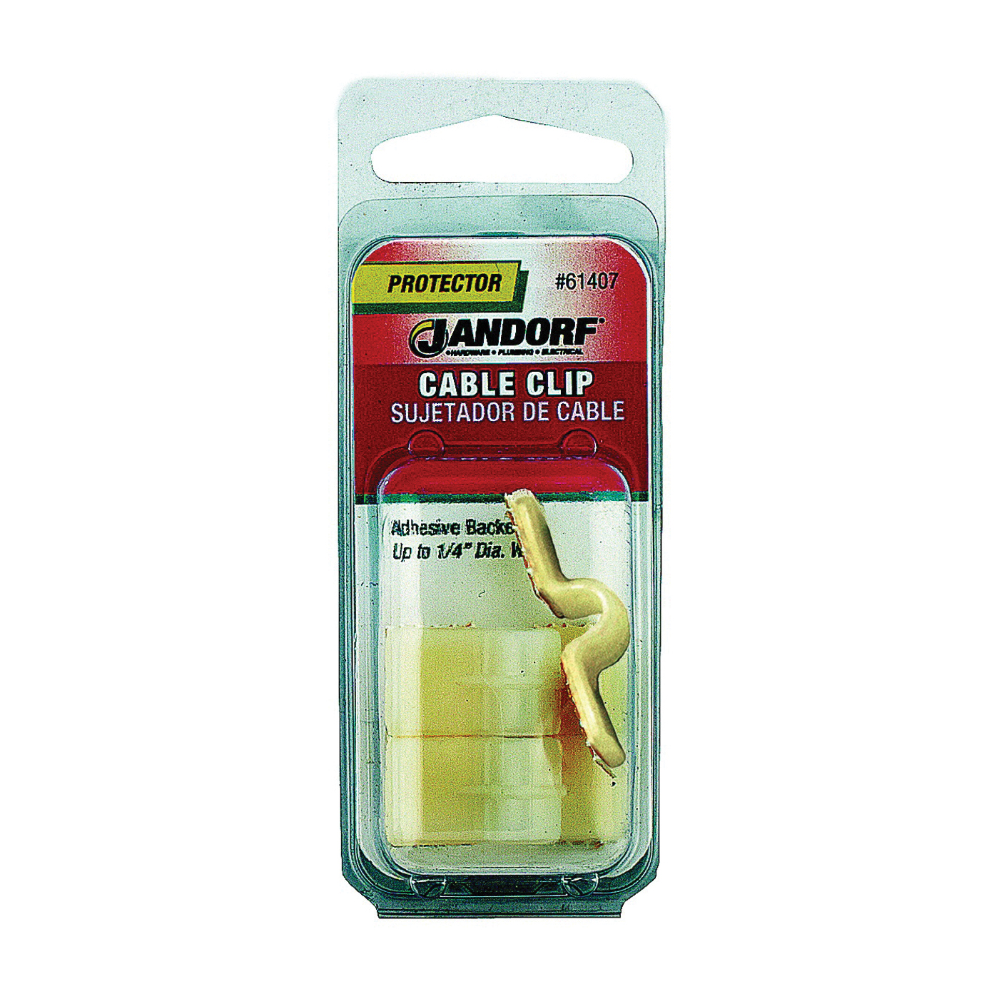 Picture of Jandorf 61407 Cable Clip, Nylon, Natural