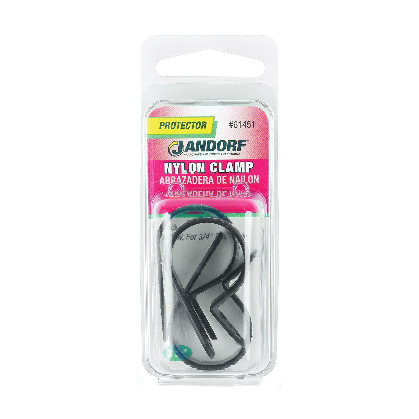Picture of Jandorf 61451 Cable Clamp, Nylon, Black