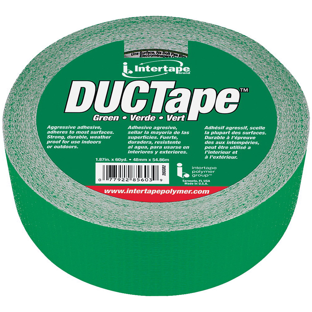 Picture of IPG 20C-GR2 Duct Tape, 60 yd L, 1.88 in W, Cloth Backing, Green