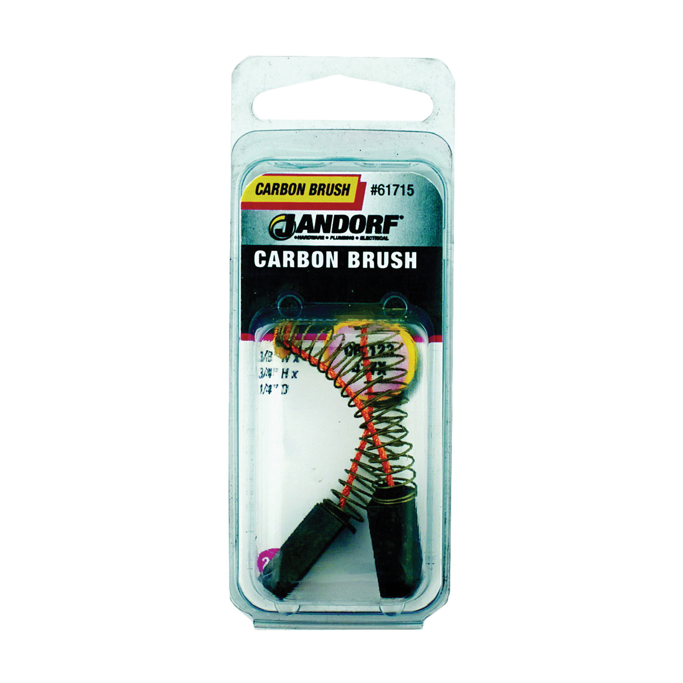 Picture of Jandorf 61715 Carbon Brush, 2 -Piece, Pack