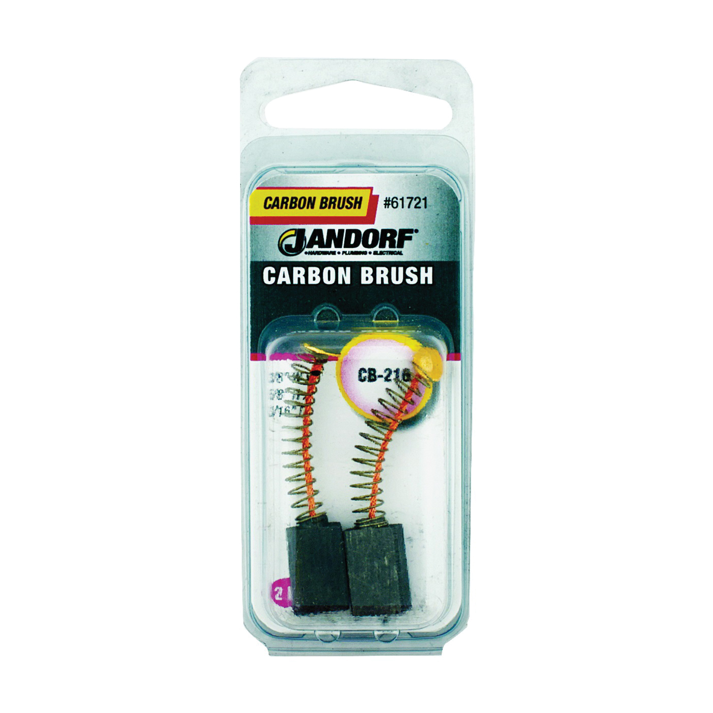 Picture of Jandorf 61721 Carbon Brush, 2 -Piece, Pack