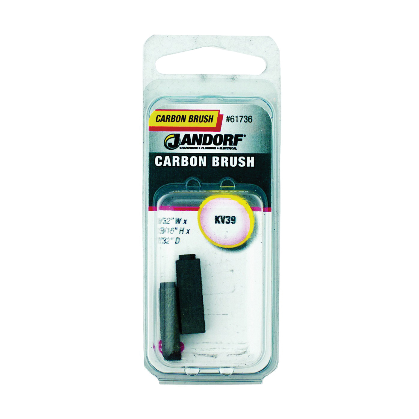 Picture of Jandorf 61736 Carbon Brush, 2 -Piece, Pack