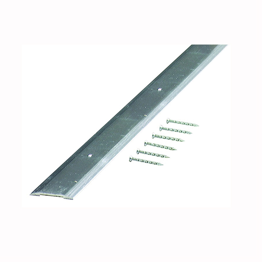 Picture of M-D 66019 Seam Binder, 36 in L, 1-1/4 in W, Smooth Surface, Aluminum, Polished
