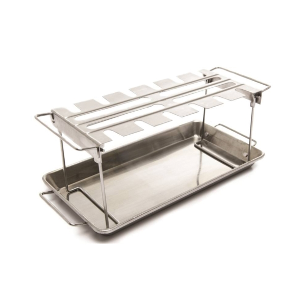 Picture of Broil King 64152 Wing Rack and Pan, Stainless Steel