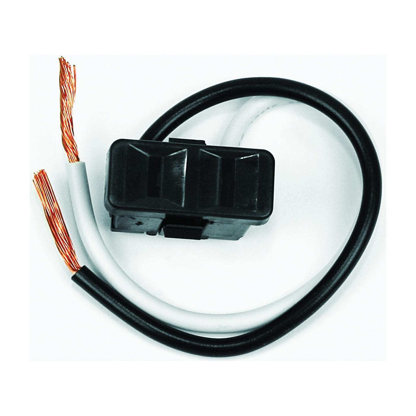 Picture of Jandorf 61014 Single Receptacle, 2-Pole, 125 V, 15 A, Black
