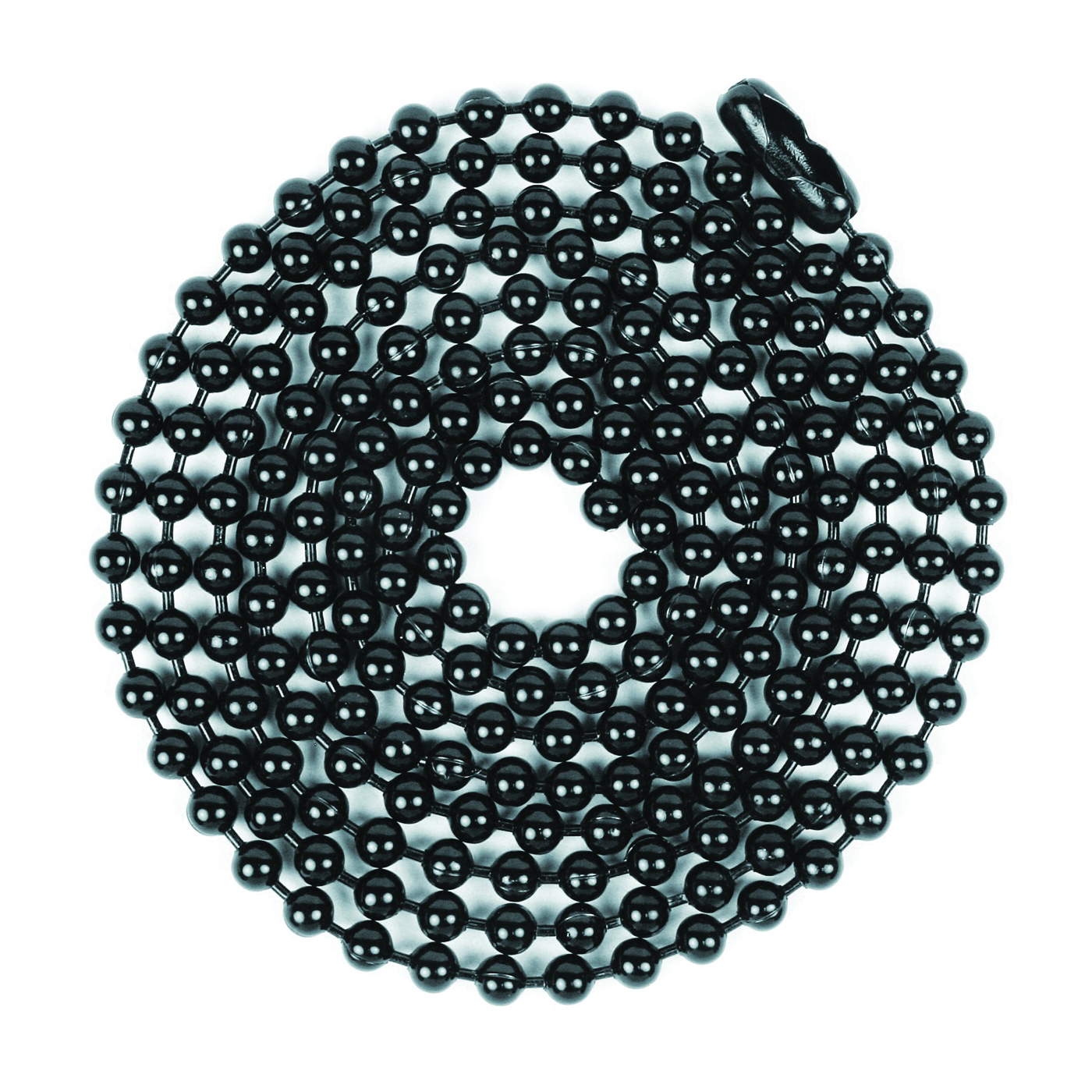 Picture of Jandorf 60371 Beaded Chain with Connector, 3 ft L, Black