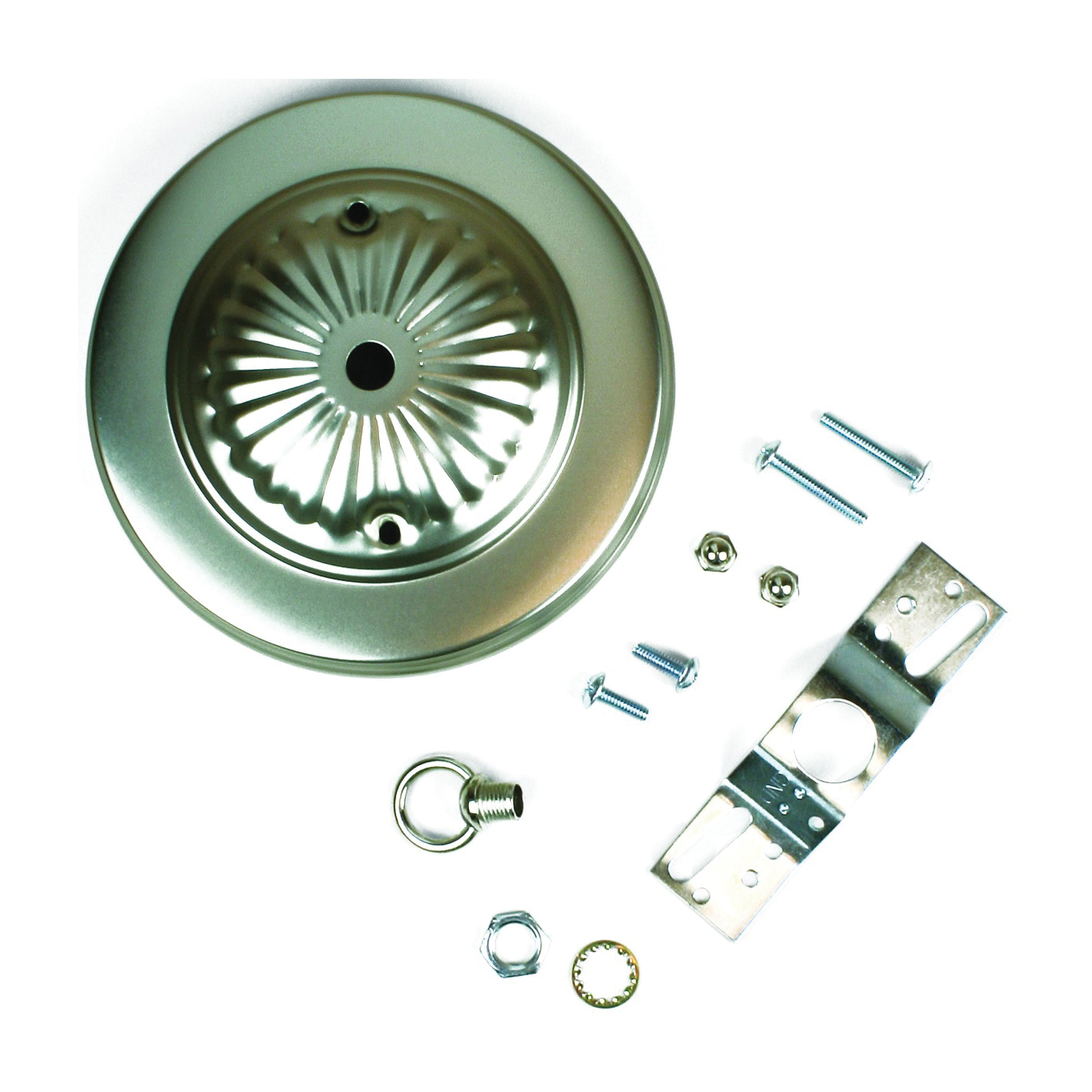 Picture of Jandorf 60216 Canopy Kit, Ceiling, Traditional, Brushed Pewter, For: Outlet Box and Hang Ceiling Fixture