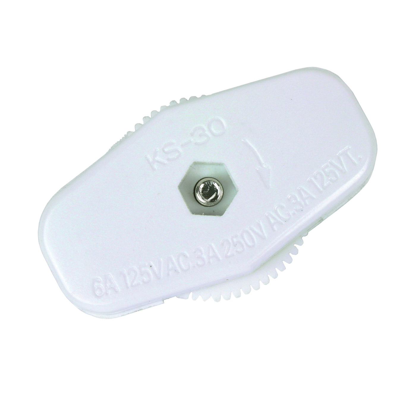 Picture of Jandorf 88920 Switch, 3/6 A, 125/250 V, 2-Teeth Terminals Terminal, White