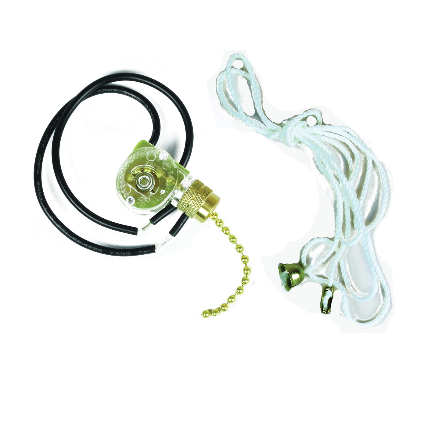 Picture of Jandorf 60304 Pull Chain Switch, 250 V, 3 A, Brass