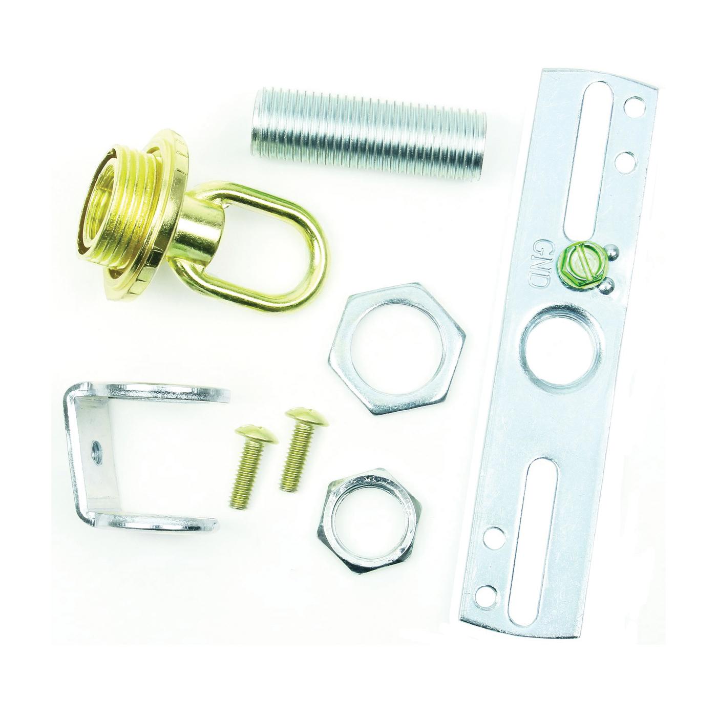 Picture of Jandorf 60206 Loop Crossbar Kit, Screw Collar, Brass