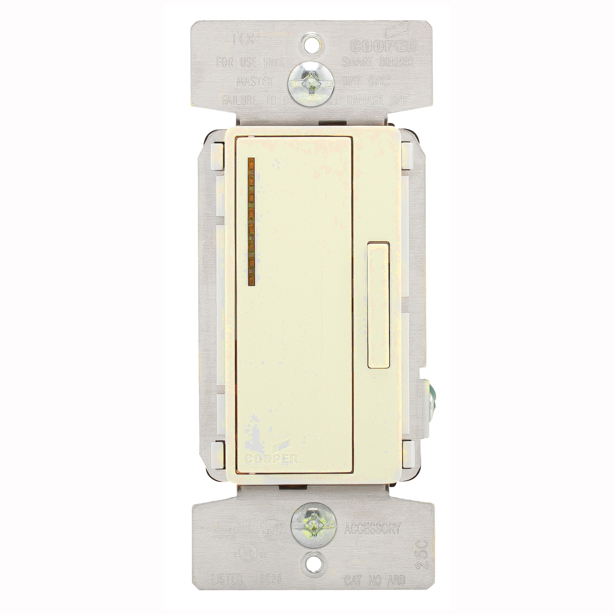 Picture of Eaton Wiring Devices ARD-C2-K-L Accessory Dimmer, 1-Pole, 120 V, 60 Hz, Ivory/Light Almond/White