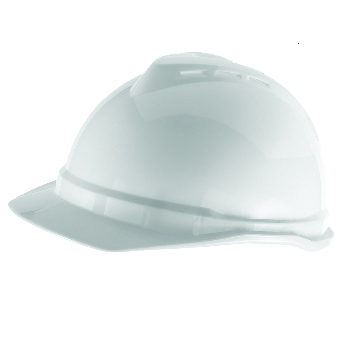 Picture of MSA 10034018 Hard Hat, 4-Point Fas-Trac III Suspension, Polyethylene Shell, White, Class: C