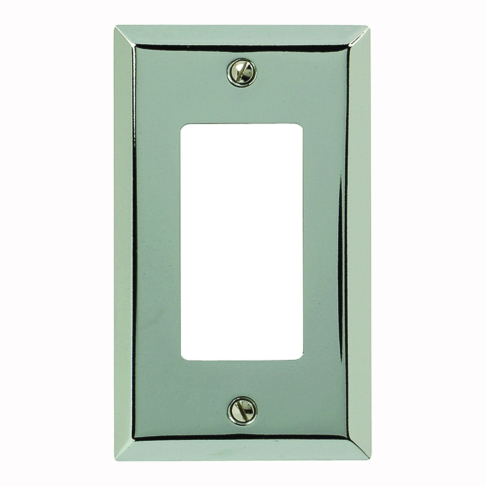 Picture of Amerelle 161R Wallplate, 4-15/16 in L, 2-7/8 in W, 1-Gang, Steel, Polished Chrome