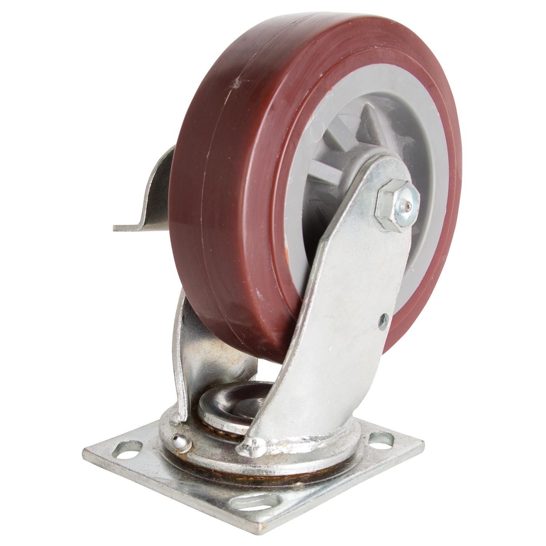Picture of ProSource JC-P06 Swivel Caster, 6 in Dia Wheel, 2 in W Wheel, Polyurethane Wheel, 500 lb