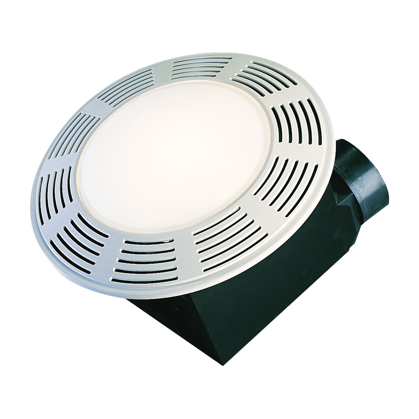 Picture of Air King AK863L Exhaust Fan, 0.8 A, 120 V, 100 cfm Air, 3.5 Sones, CFL, Incandescent Lamp, 4 in Duct, White