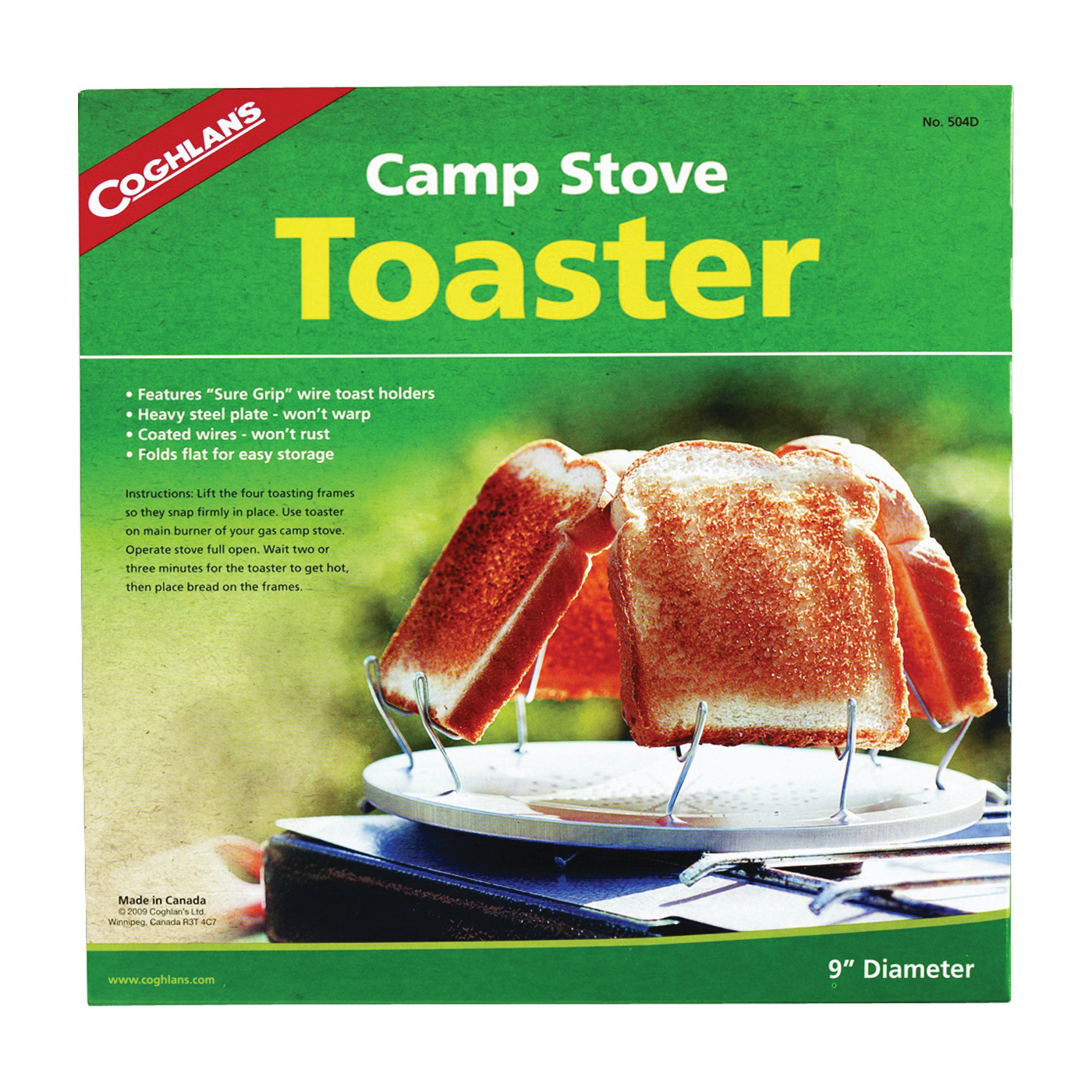 Picture of COGHLAN'S 504D Camp Stove Toaster, Steel
