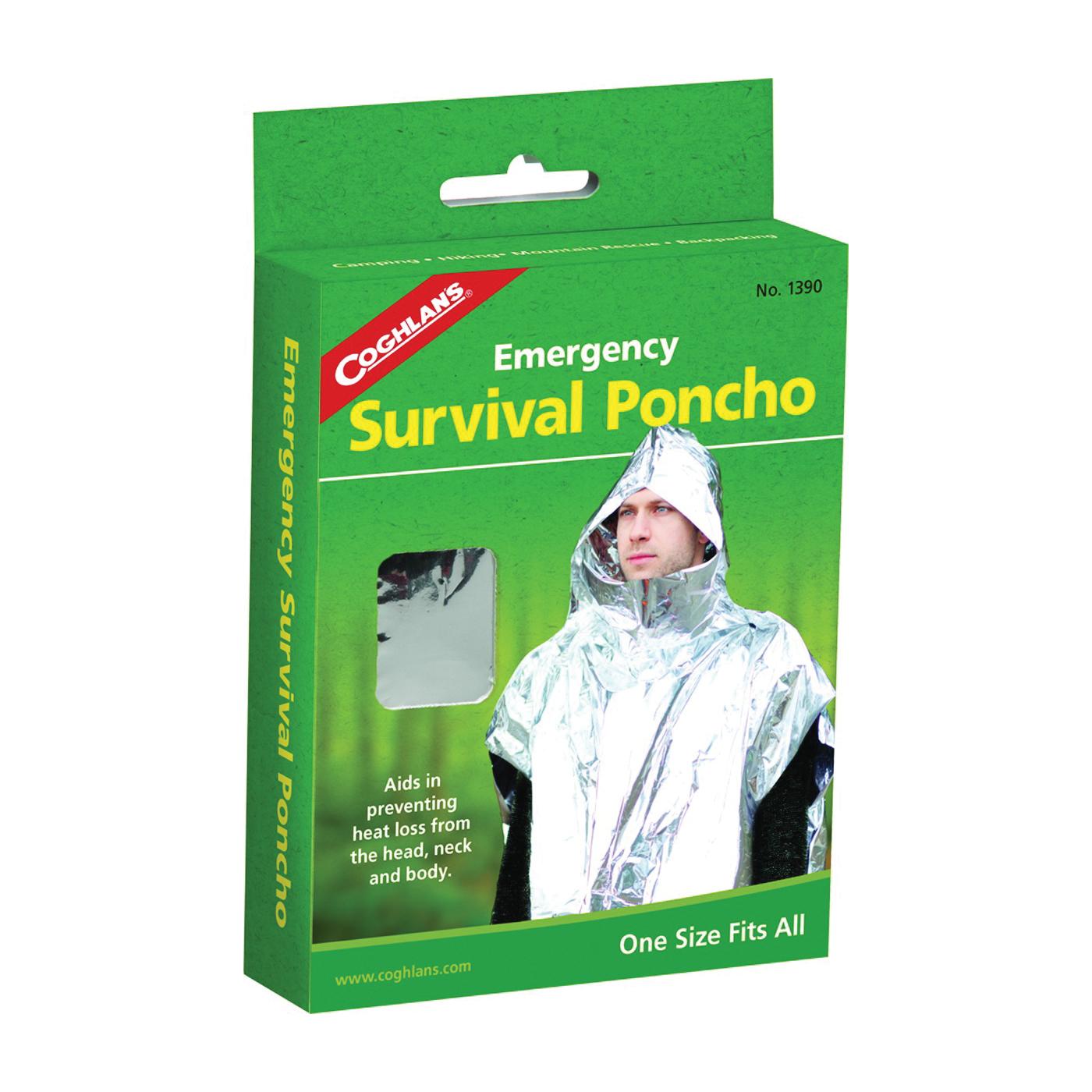 Picture of COGHLAN'S 1390 Emergency Survival Poncho, Metallized Aluminum/Polyethylene