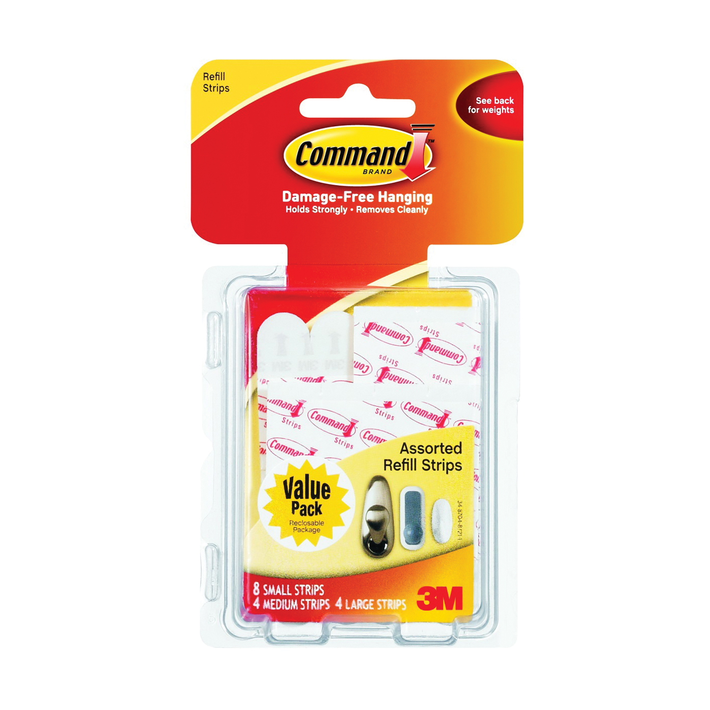 Picture of Command 17200CL Refill Strip, White