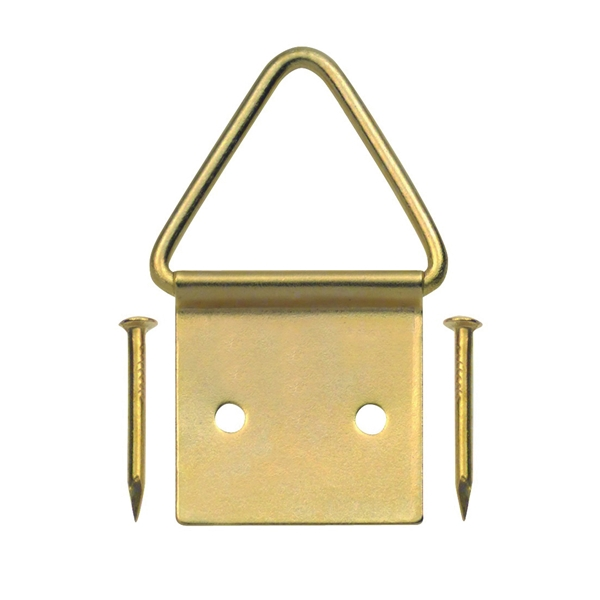 Picture of OOK 50205 Picture Hanger, 20 lb, Steel, Brass, Gold, 2, Pack