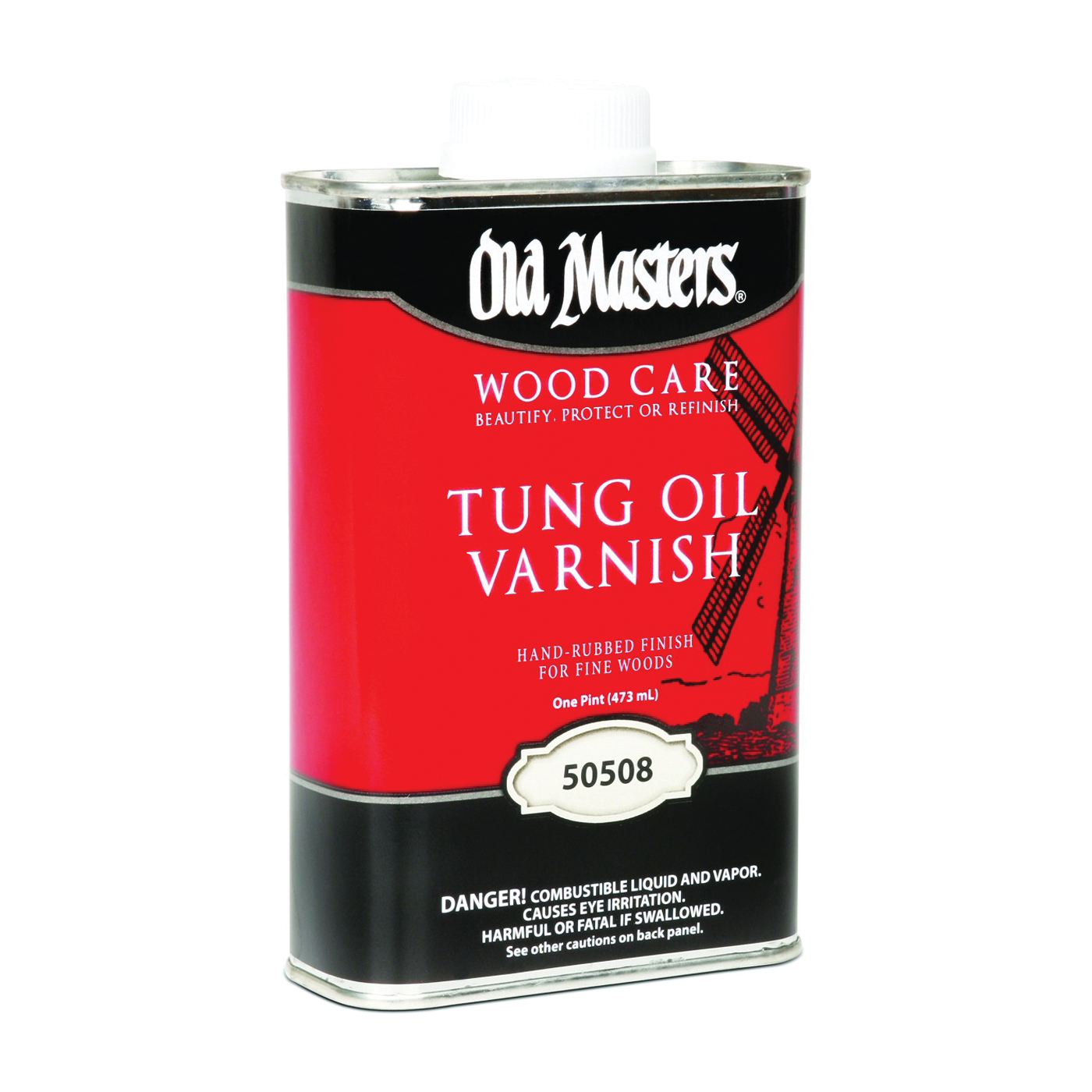 Picture of Old Masters 50508 Tung Oil Varnish, Liquid, 1 pt, Can