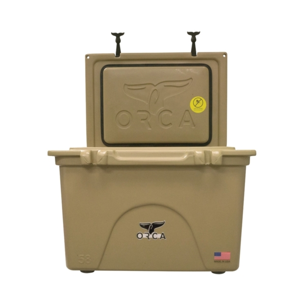 Picture of ORCA ORCT058 Cooler, 58 qt Cooler, Tan, Up to 10 days Ice Retention