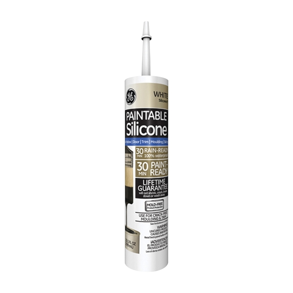 Picture of GE Silicone II GE7000 Silicone Caulk, White, -30 to 150 deg F, 10.1 oz Package, Cartridge