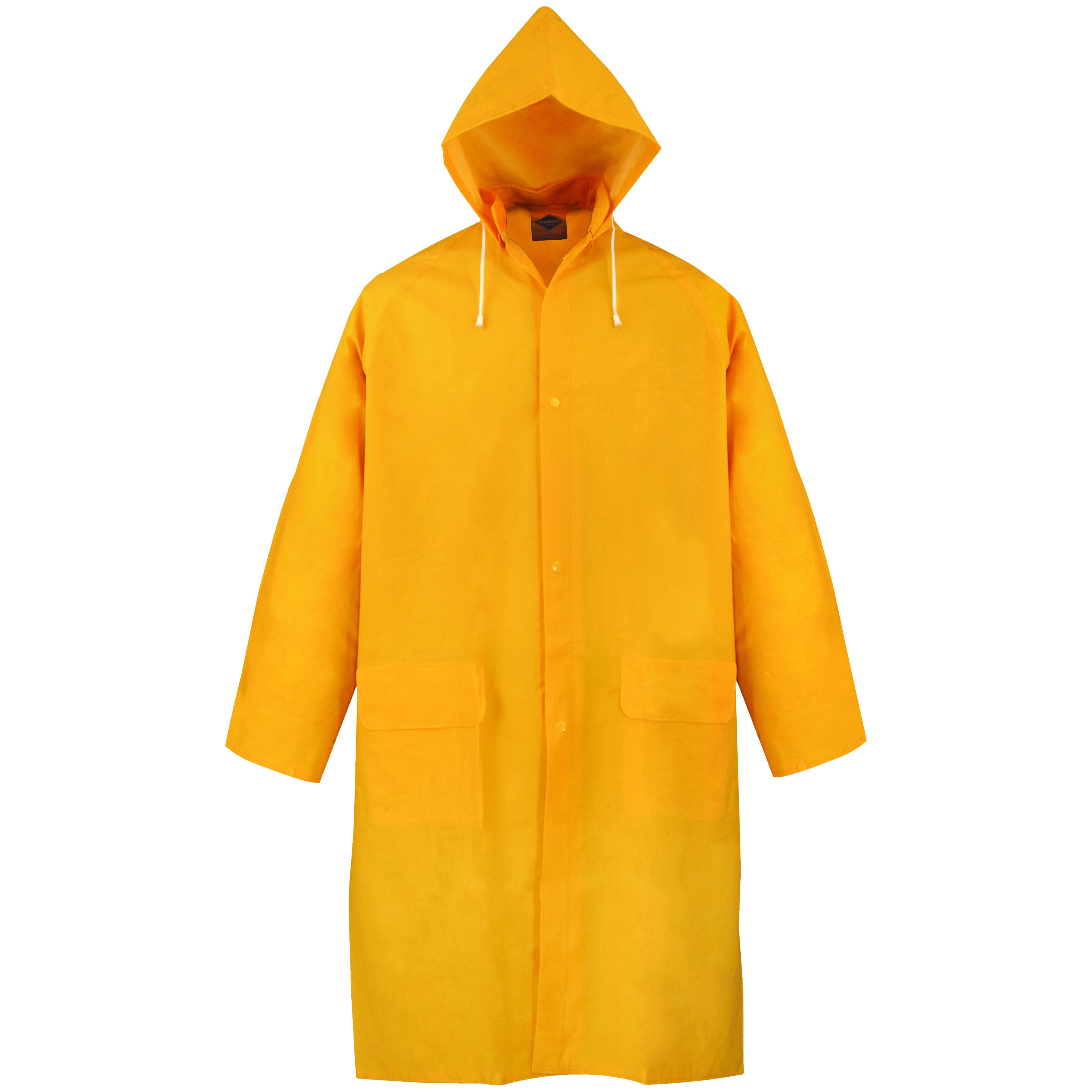 Picture of Diamondback PY-800L Raincoat, L, Polyester/PVC, Yellow, Removable Collar