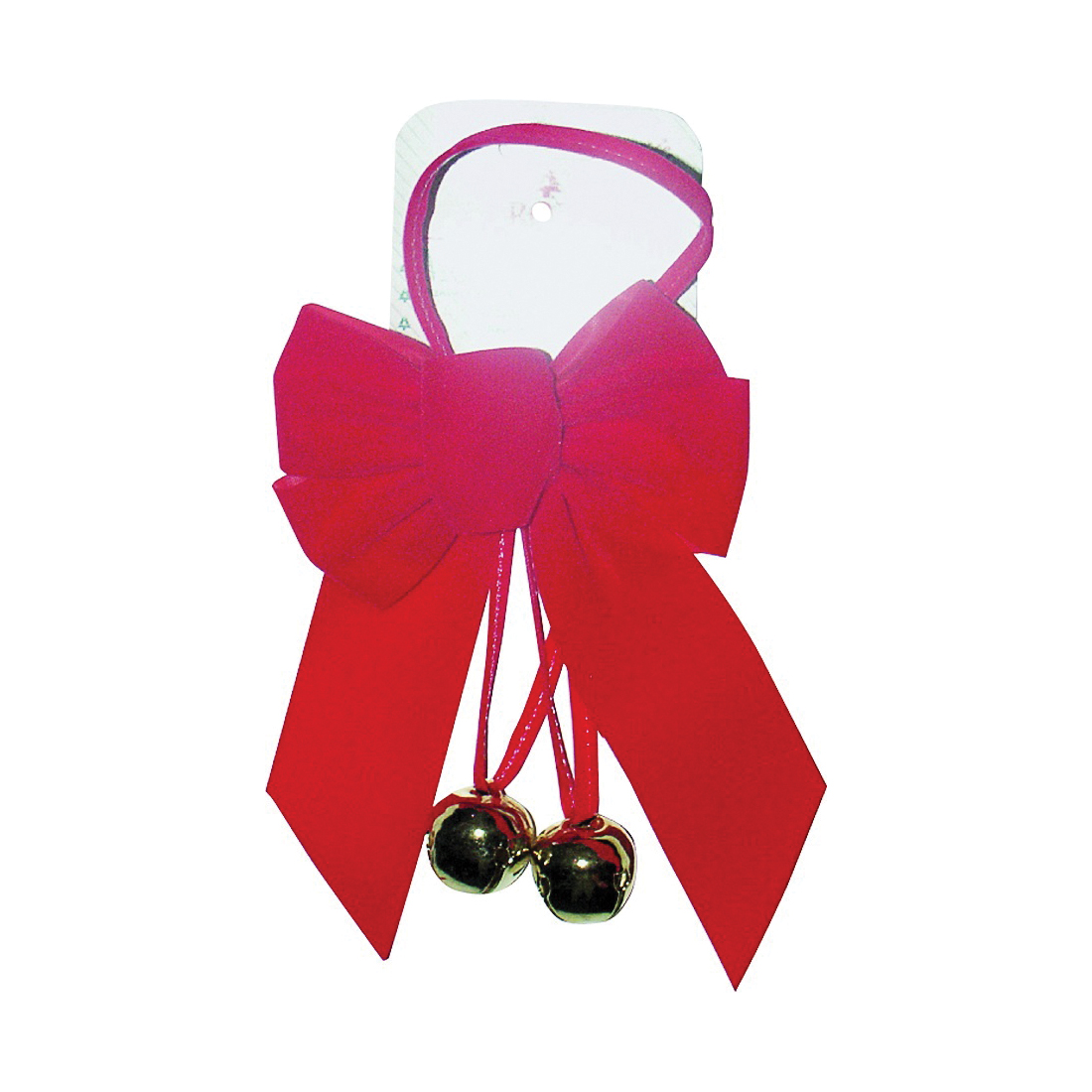 Picture of Holidaytrims 6803 Sleigh Bell Bow, 1 in H, Velvet, Red