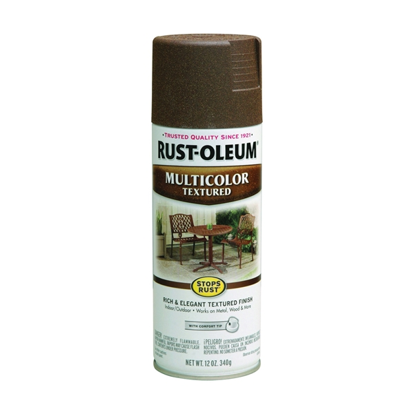 Picture of RUST-OLEUM STOPS RUST 223523 Textured Spray Autumn Brown, Solvent-Like, Autumn Brown, 12 oz, Aerosol Can