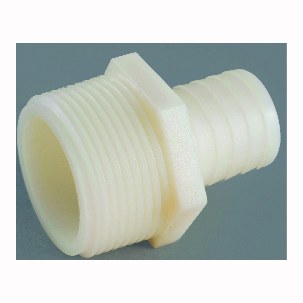Picture of Anderson Metals 53701-0606 Hose Insert Adapter, 3/8 in, Barb, 3/8 in, MIP, 150 psi Pressure, Nylon