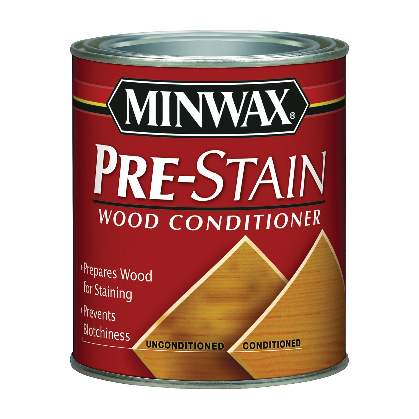 Picture of Minwax 41500000 Pre-Stain Wood Conditioner, Clear, Liquid, 1 pt, Can