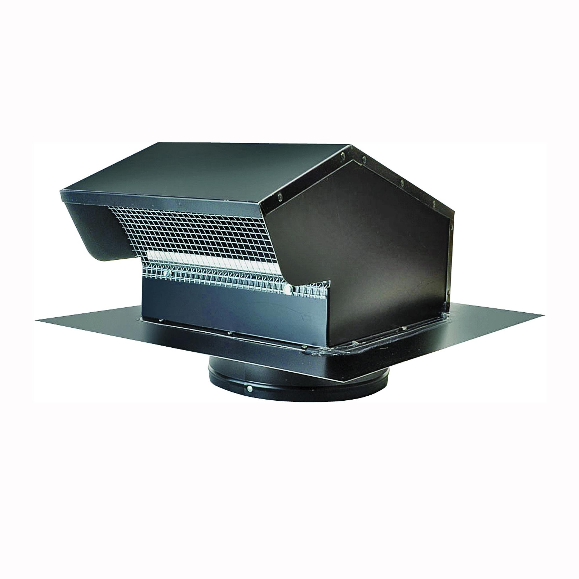 Picture of Master Flow GNV7BL Goose Neck Ventilator, 14-3/4 in W, Galvanized Steel, Black