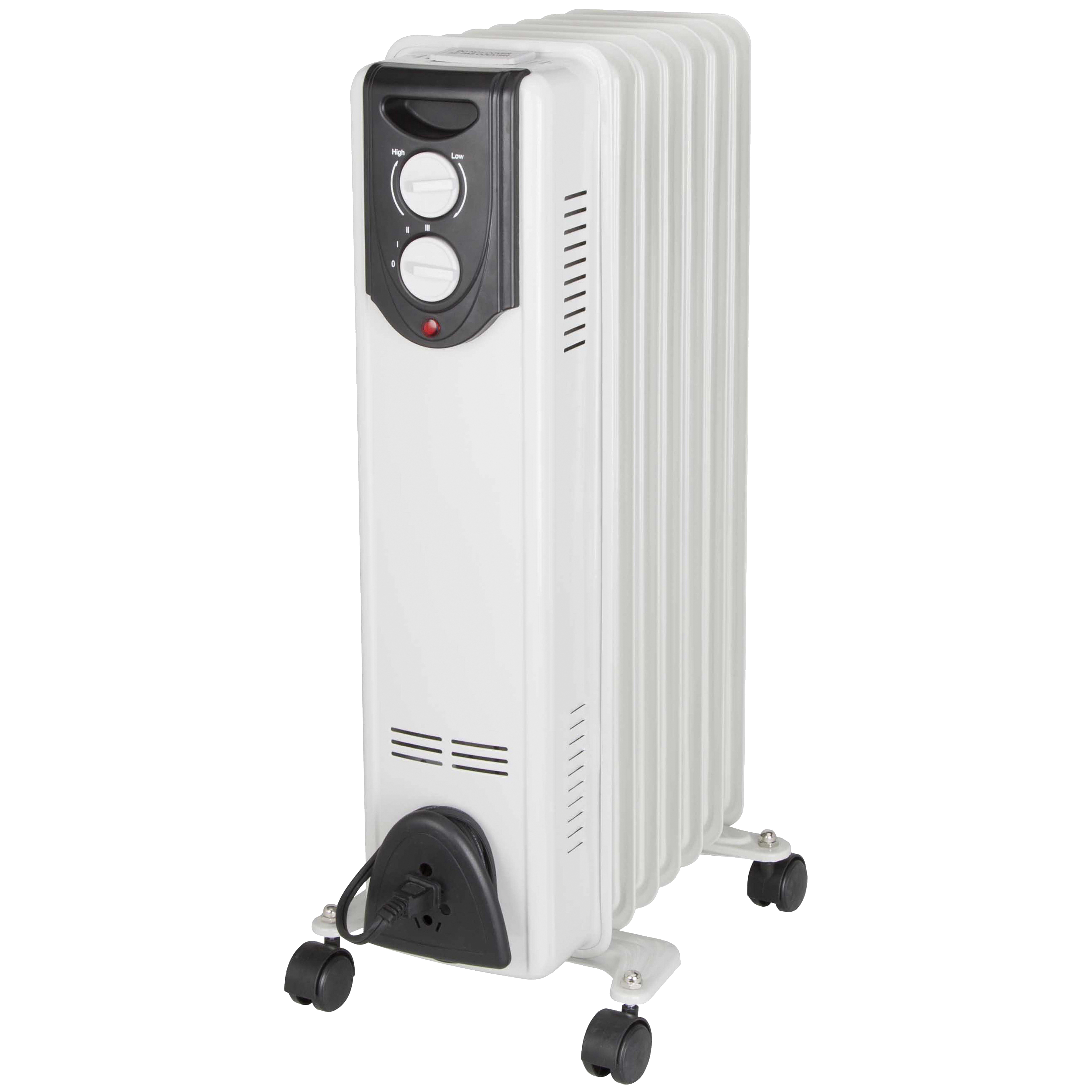 Picture of PowerZone DF-150P9-7 Oil Filled Heater 600/900/1500W White, 12.5 A, 120 V, 600/900/1500 W, 1500 W Heating, White