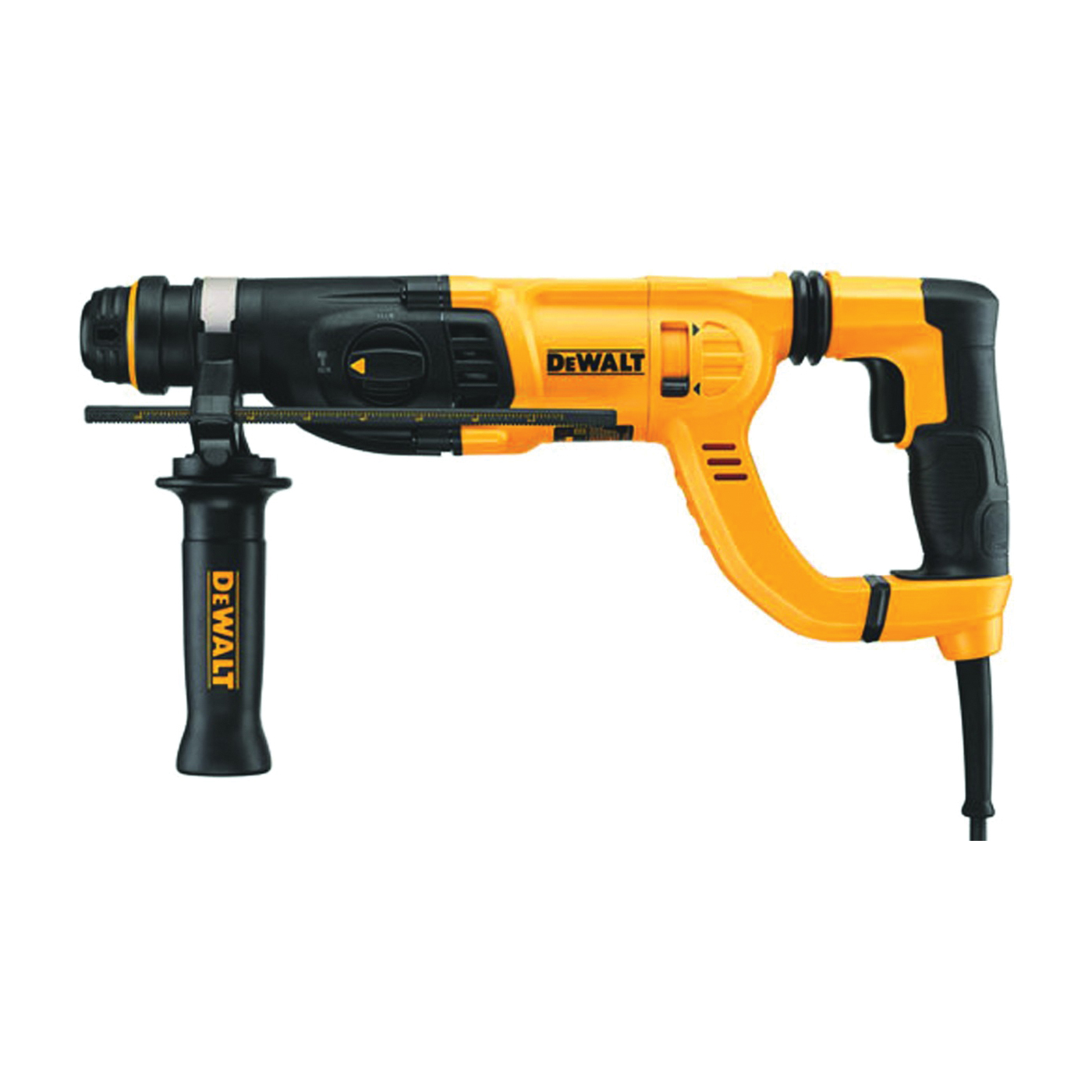 Picture of DeWALT D25262K Rotary Hammer Kit, 120 V, 5/32 to 5/8 in Drilling, 1 in Chuck, SDS-Plus Chuck, 0 to 1500 rpm Speed