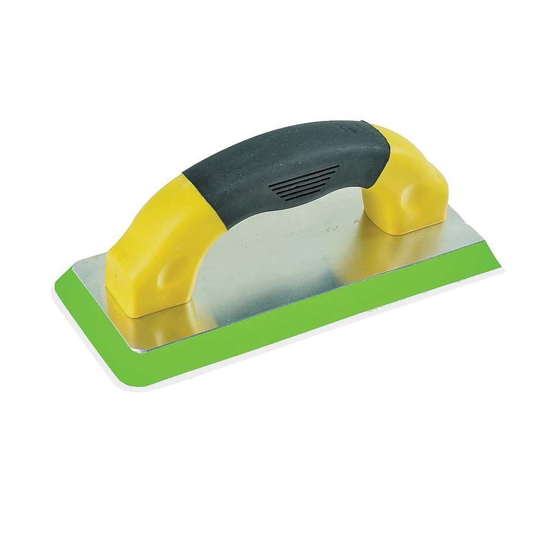 Picture of M-D 49829 Grout Float, 9 in L, 4 in W, Comfort-Grip Handle, Rubber, Black/Green/Yellow