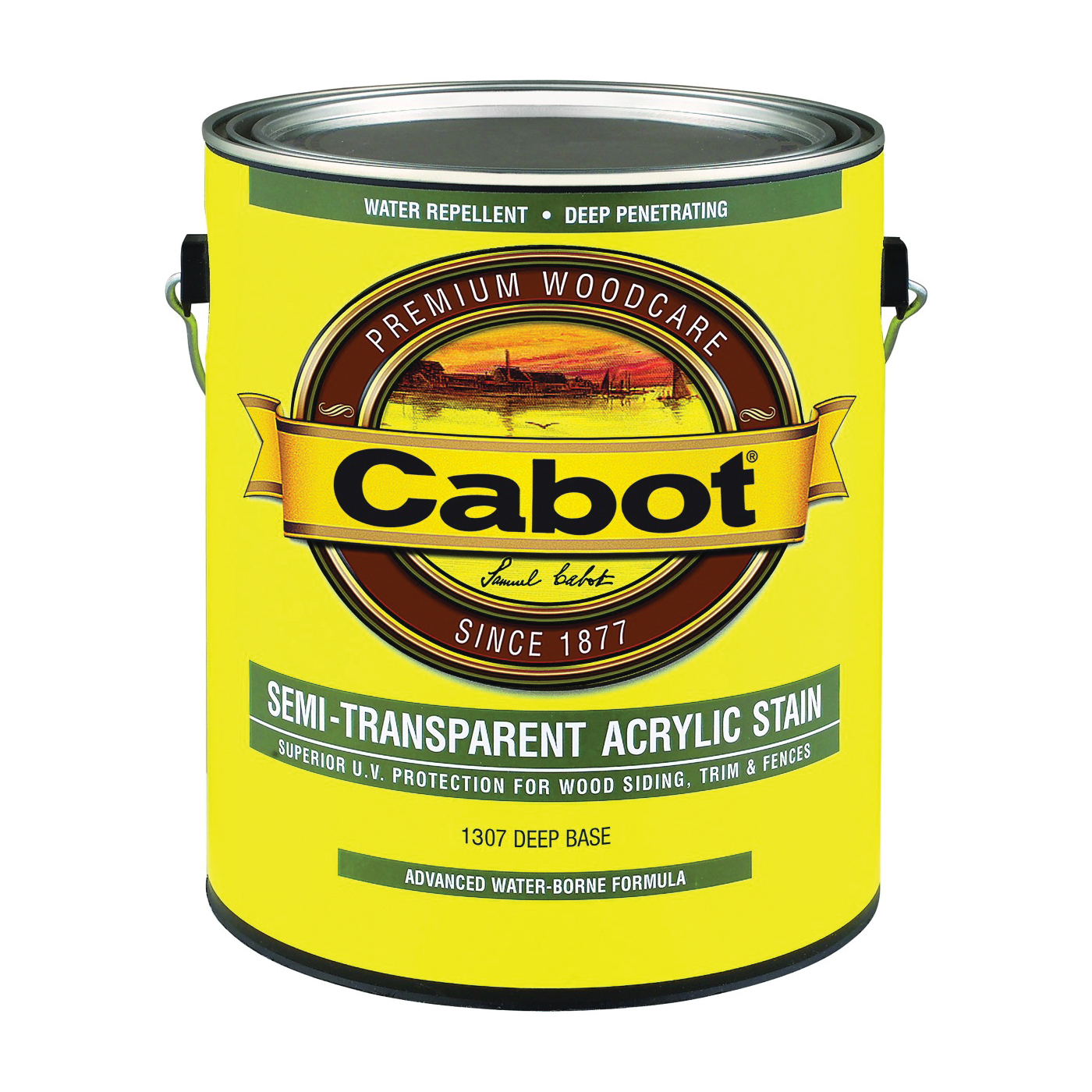Picture of Cabot 1307 Acrylic Siding Stain, Flat, Deep Base, Liquid, 1 gal