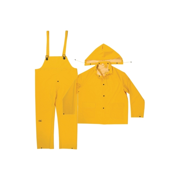 Picture of CLC R101X Rain Suit, XL, PVC, Yellow, Detachable Collar