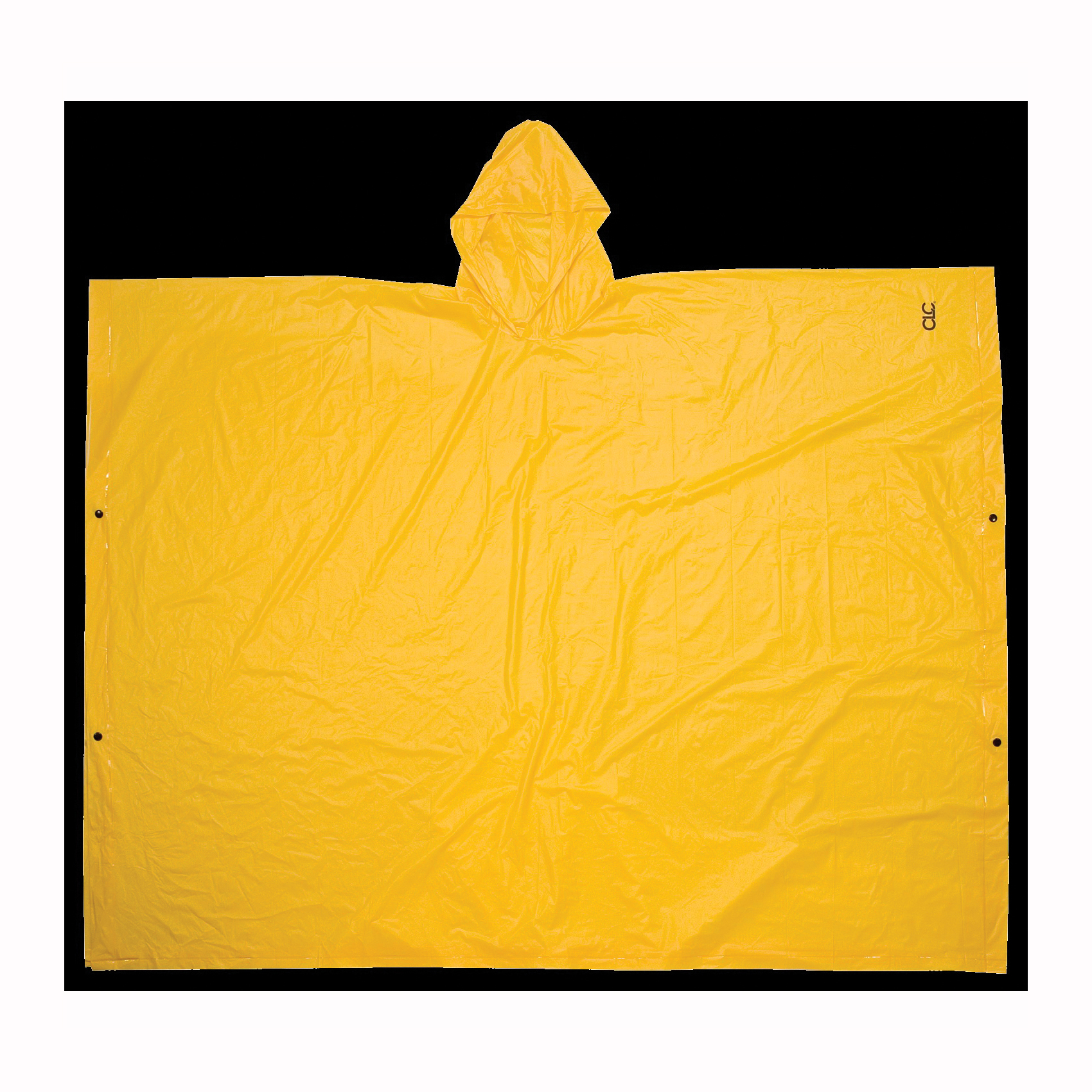 Picture of CLC CLIMATE GEAR R10410 Rain Poncho, L, PVC, Yellow, Attached Collar