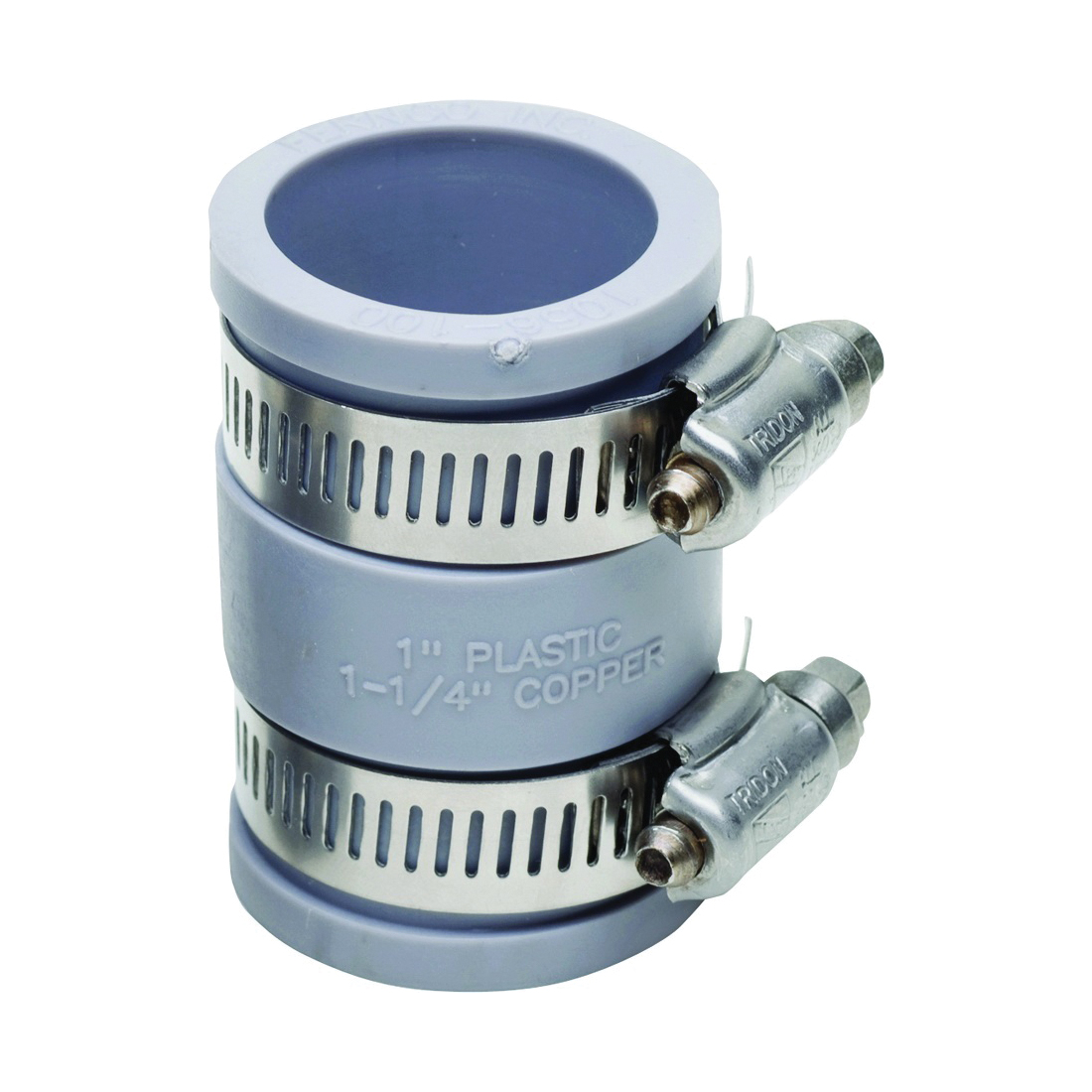 Picture of FERNCO P1056-100 Flexible Pipe Coupling, 1 in, PVC, SCH 40 Schedule, 4.3 psi Pressure
