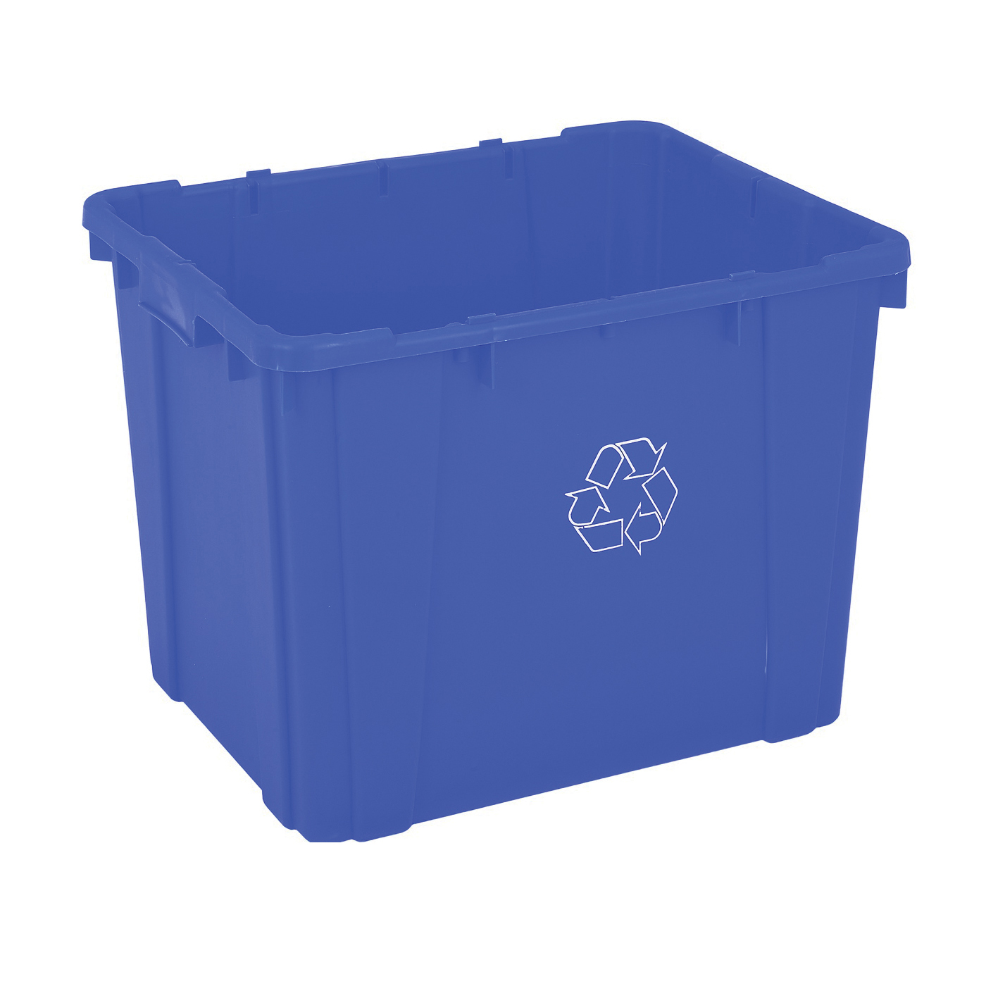 Picture of CONTINENTAL COMMERCIAL 5914-1 Curbside Recycling Bin, 14 gal Capacity, Plastic, Blue