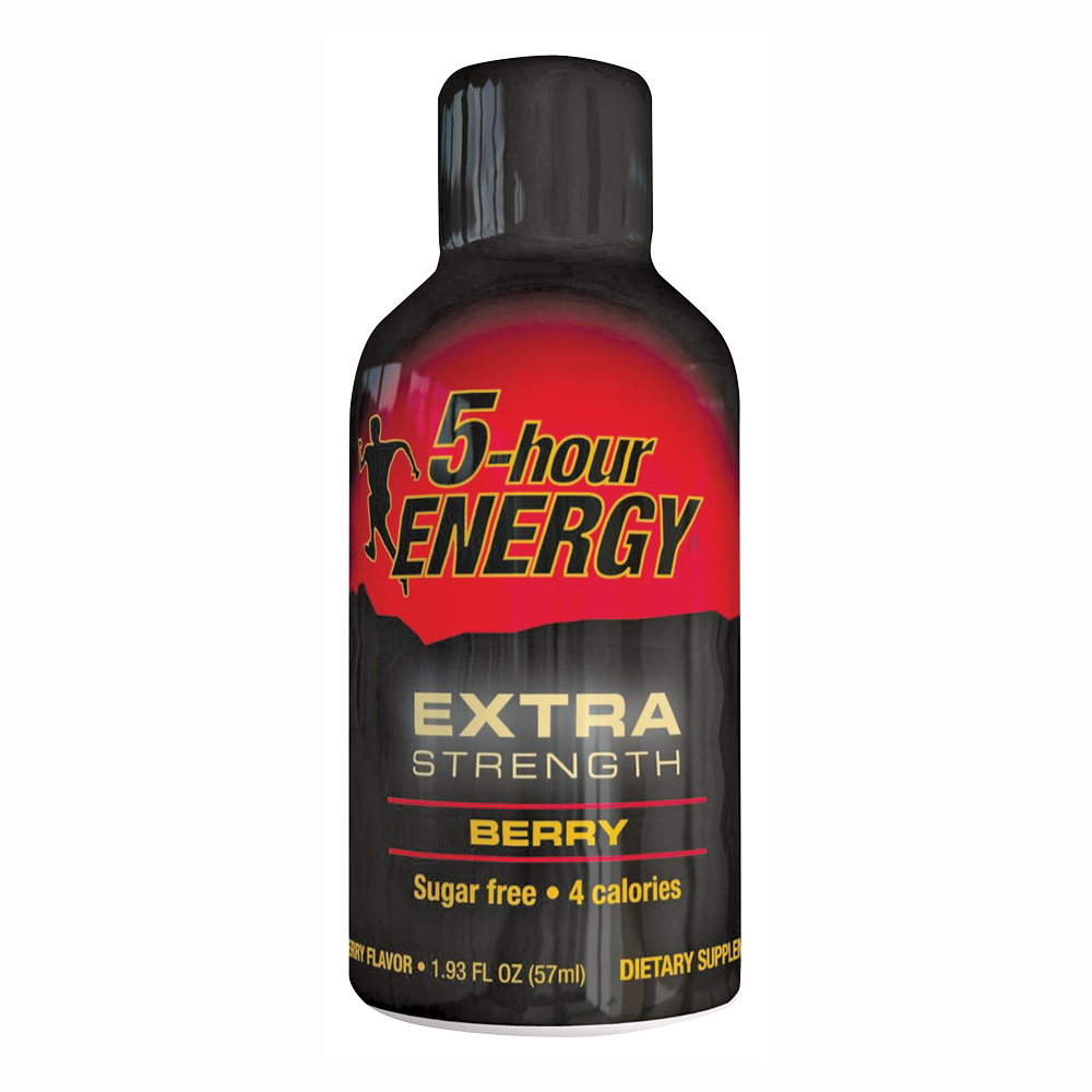 Picture of 5-hour ENERGY 718128 Sugar-Free Energy Drink, Liquid, Berry Flavor, 2 oz Package, Bottle