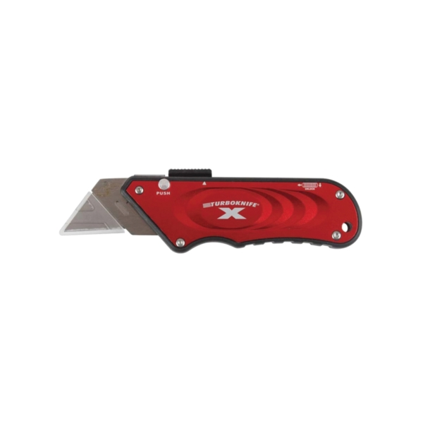 Picture of Olympia Tools 33-132 Utility Knife, 1.18 in L Blade, 4.06 in W Blade, Straight Handle, Red Handle